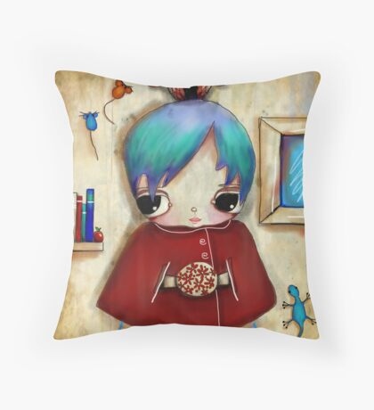 owl and friends Throw Pillow