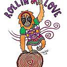 Rollin on Love - Animals of Inspiration Orangutan Illustration by mellierosetest