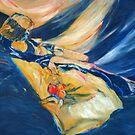 Sunlit Nude Model in a Hammock by Virginia McGowan