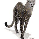 « Sumi-e Leopard » par Threeleaves