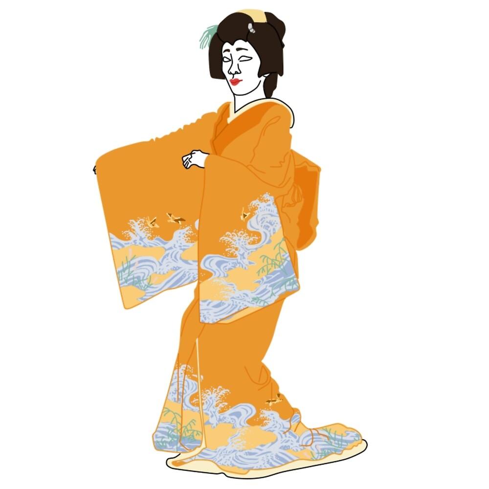 Waves Kimono Motif by KHRArts