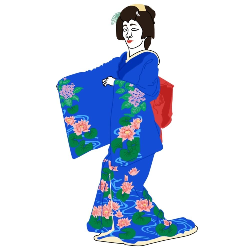Water Lilies Kimono Motif by KHRArts