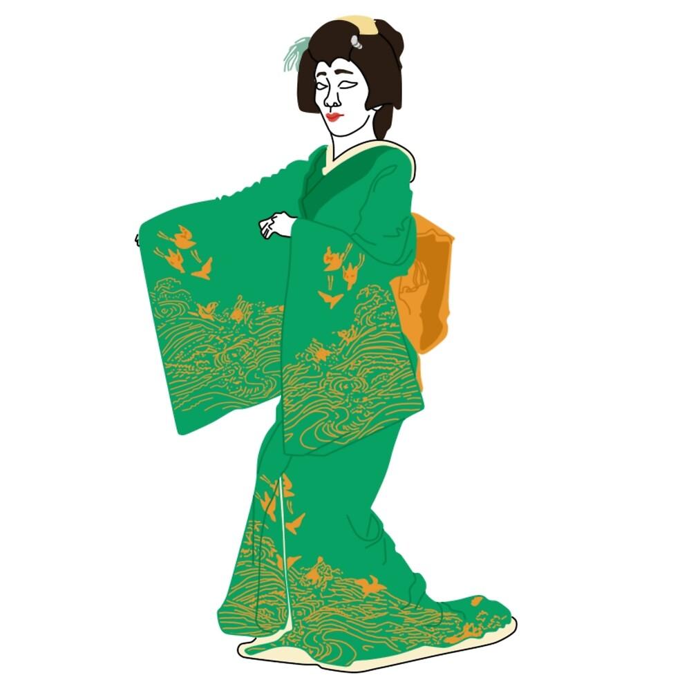 Plovers Kimono Motif by KHRArts