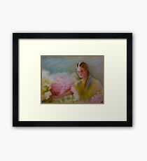 Flower Vendor Framed Print