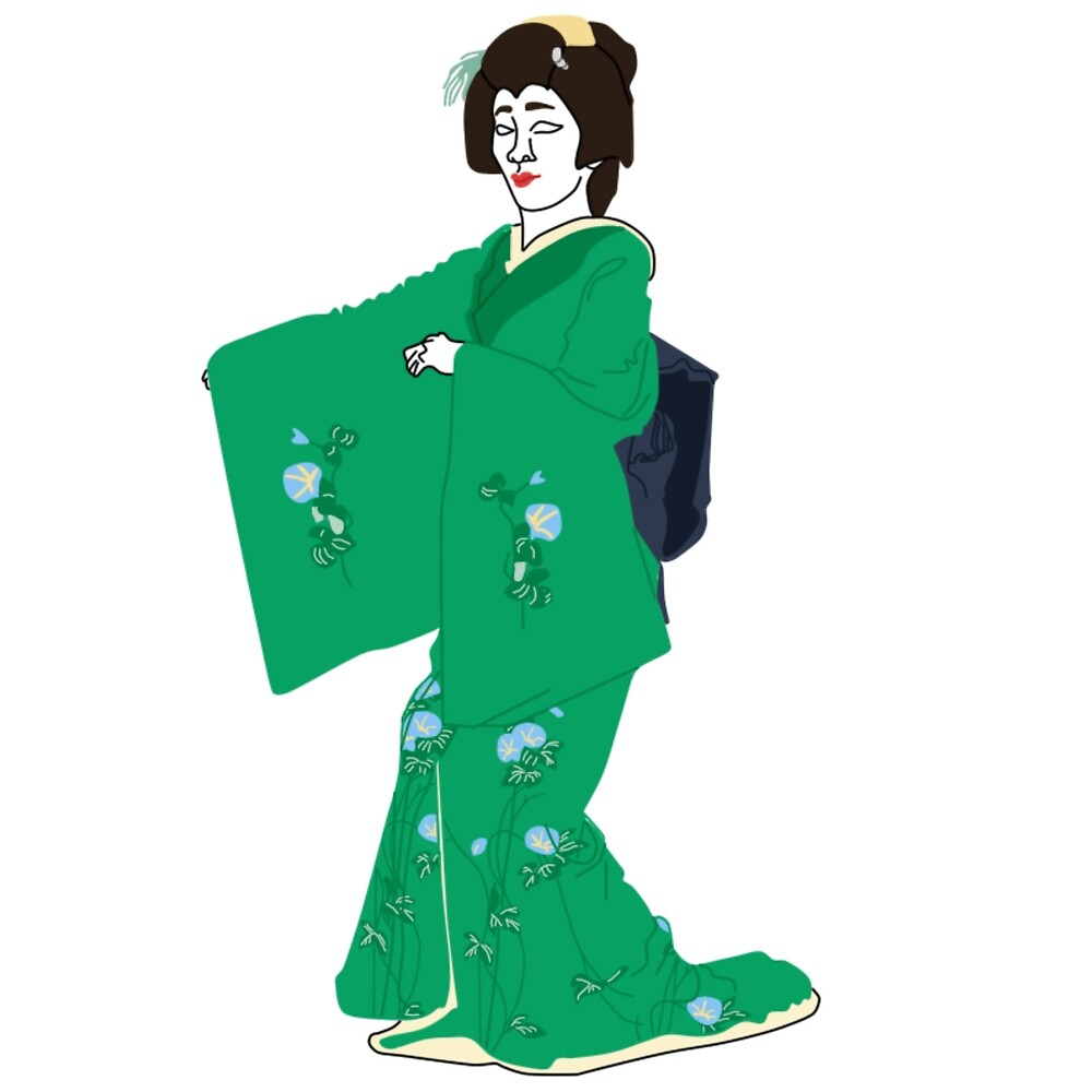 Morning Glories Kimono Motif by KHRArts