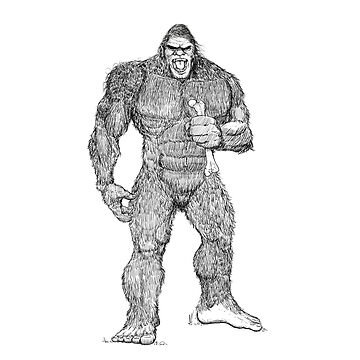 Bigfoot Pen and ink by dtkindling