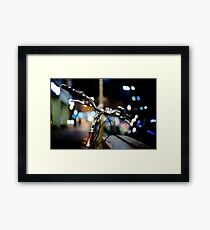 bicycle@night Framed Print
