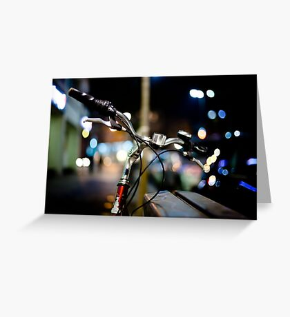 bicycle@night Greeting Card