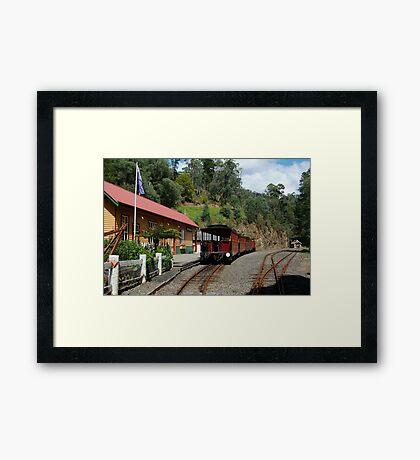 Walhalla Railway Station,Stringers Creek Gorge Framed Print