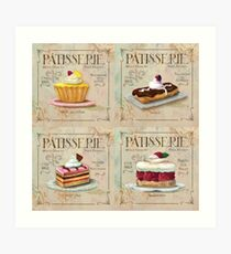 French Patisserie multi print Art Print