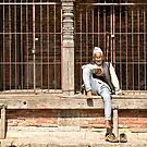 Nepalese Old Man by Kingston  Liu