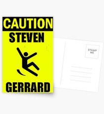 Caution: Steven Gerrard Postcards