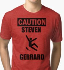 Caution: Steven Gerrard Tri-blend T-Shirt