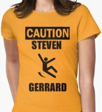 Caution: Steven Gerrard Women's Fitted T-Shirt