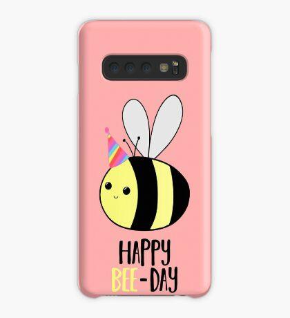 Happy BEE-Day - Birthday Pun - Funny Birthday Card - Bee Pun - Bug Pun Case/Skin for Samsung Galaxy