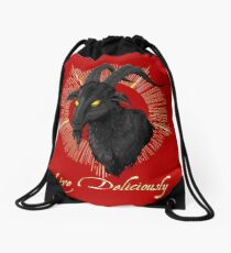 Black Phillip - Live Deliciously (The Witch) Drawstring Bag