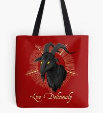 Black Phillip - Live Deliciously (The Witch) Tote Bag