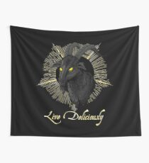 Black Phillip - Live Deliciously (The Witch) Wall Tapestry