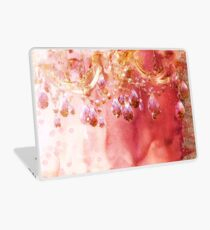 First Blush watercolor gold glitter crystals chandelier Laptop Skin