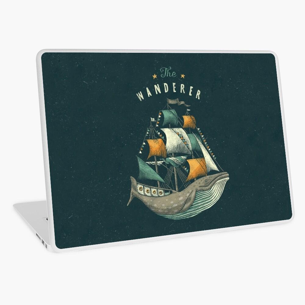 Whale   Petrol Grey Laptop Skin