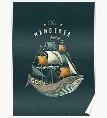 Whale | Petrol Grey Poster