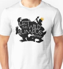 Where The Wild Things Are - Let the Wild Rumpus Start - Gold Crown Unisex T-Shirt