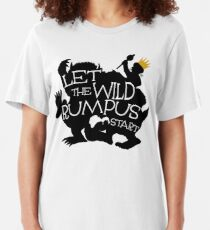 Where The Wild Things Are - Let the Wild Rumpus Start - Gold Crown Slim Fit T-Shirt