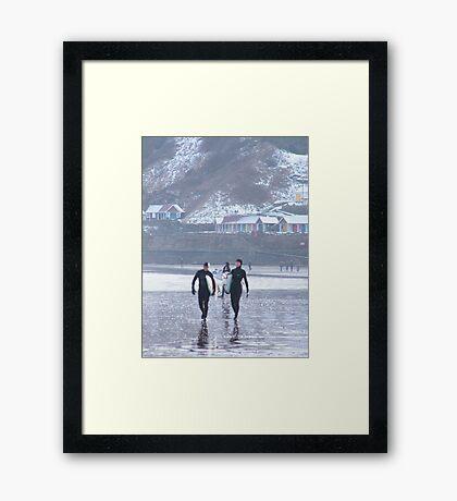 Surfing Antics 5 Framed Print