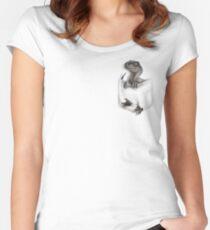 Pocket Protector - Female Raptor Fitted Scoop T-Shirt