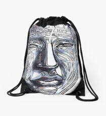 Man human person gridface guy dude wisdom zen Drawstring Bag