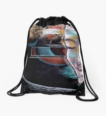 Man human guy zen technology Beach Human Zen scifi Drawstring Bag