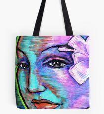 Woman Girl Female Lady Beach Mermaid Fairy Rainbow Flower Tote Bag