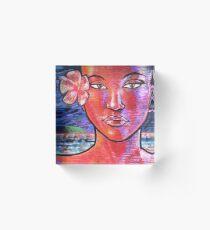 Woman Girl Female Lady Beach Human Zen KRIS Acrylic Block