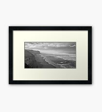 First Footsteps On The Beach Framed Print