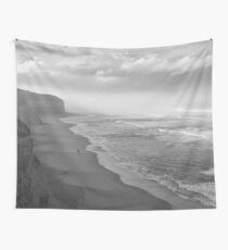 First Footsteps On The Beach Wall Tapestry
