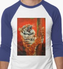 Tiger Tiger Burning Bright Men's Baseball ¾ T-Shirt