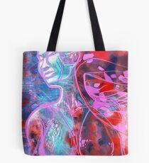 woman Girl female lady mermaid ocean sea siren SED Tote Bag