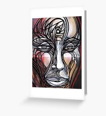 Man Human guy dude spiral head face portrait Greeting Card