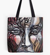 Man Human guy dude spiral head face portrait Tote Bag