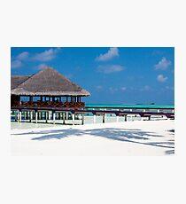 Beach Bar Over Water Medhufushi Maldives Photographic Print