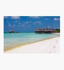 Beach and Beach Bar Maldives Photographic Print