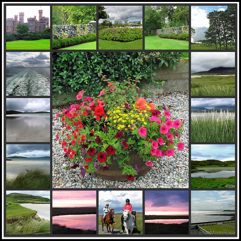Hebridean Interlude Collage - Western Isles, Scotland von BlueMoonRose
