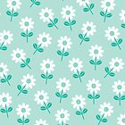 Spring Daisies on Mint by daisy-beatrice