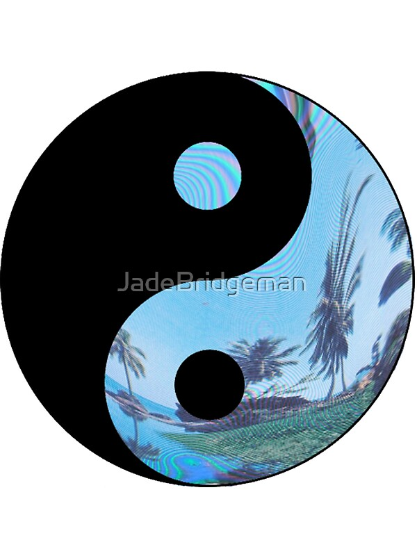 Quot Palm Tree Yin Yang Tumblr Quot Stickers By Jade Bridgeman