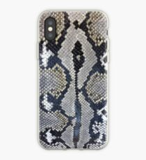 Python snake skin texture design iPhone Case