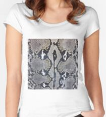 Python snake skin texture design Women's Fitted Scoop T-Shirt