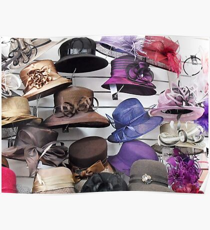Wall of Hats Poster