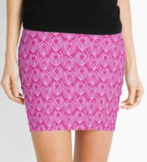 Pink Tulips Mini Skirt