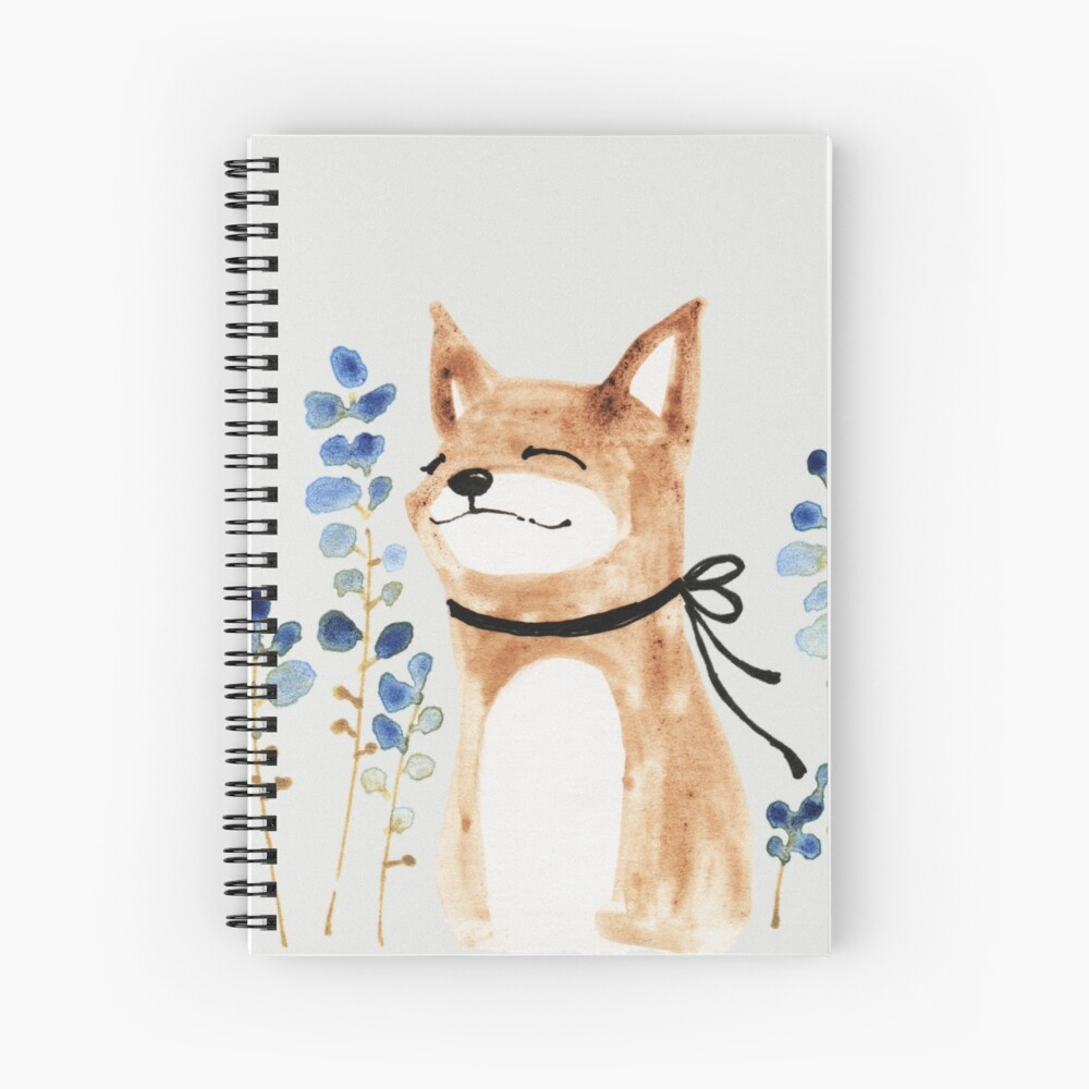 Fox and Flower Spiral Notebook