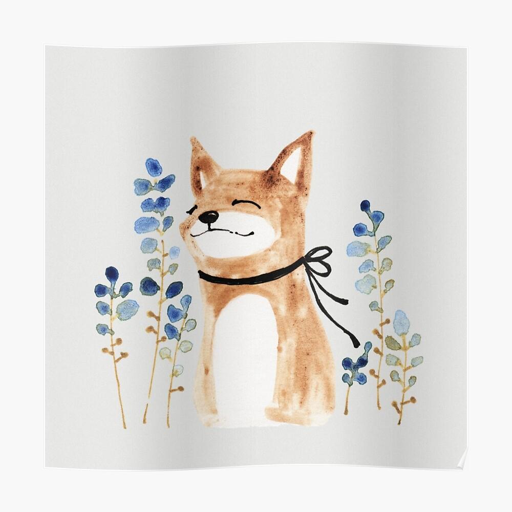 Fuchs und Blume Poster